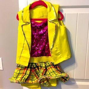 Girls dance costume sz intermediate child